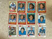 Topps 1970-1978 Baltimore Colts 24 Card Lot