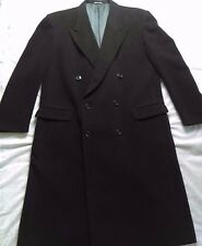 GIORGIO ARMANI-MANI Black Cashmere Long Mens Over Coat Trench Dress Coat 46L