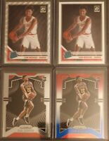 Cam Reddish 2019-20 Rookie Lot Of 4 Panini Prizm RWB, Optic Silver Wave