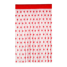 2pcs Curtains Celebration Heart Pattern Door Curtain for Wedding Valentine's Day