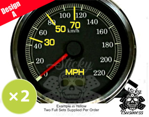 MPH Conversion stickers for KPH speedo Motorbike Car Truck Grey Import 9 COLOURS