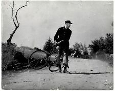original large movie photo Jour de fête film Jacques Tati cinema vélo foto 1949
