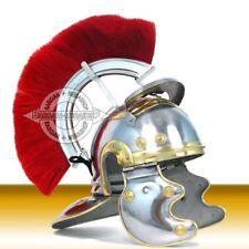 Roman Officer Centurion Historical Helmet Armor Red Plume - Adult Size Medieval