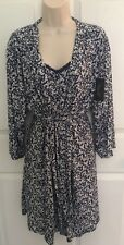 Rene Rofe Robe and Chemise Blue w/White Flower Pattern - NWT - 2X - Retail $68