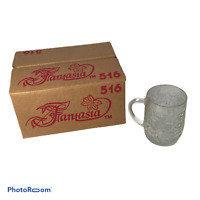 💕 PRINCESS HOUSE FANTASIA CLEAR MUGS..set of 4, crystal floral Christmas B7