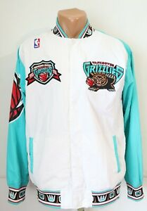VANCOUVER GRIZZLIES INAUGURAL 1995/1996 WARM UP JACKET TOP MITCHELL & NESS MEN S