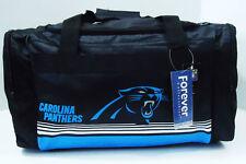 "Carolina Panthers DUFFEL Bag Stripes Gym Training New 20"" x 11"" x 11"" NFL"