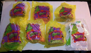 7 Sealed 2000 Wendy's Kids Meal Dr Suess How the Grinch Stole Christmas Toy Lot