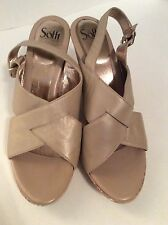Sofft Wedge Sandal Size 11 Beige Gold Flecks Worn Once - Beautiful Condition!