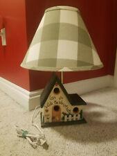 New listing Rustic Birdhouse Lamp w Shade Baby Nursery Room Decor Bedside Table Lamp