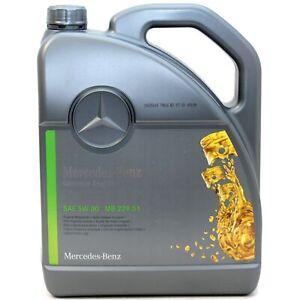 Original Mercedes-Benz Mercedes Motoröl 5W-30 Öl 5W30 5 Liter MB 229.51