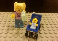 Lego NEW Series 16 Babysitter Minifigure With Baby and Blue Stroller 71013