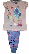 Peppa Pig Girls Pink Glitter My Daddy is the Best Pyjamas Pjs Sleepwear  2 3 4 5