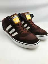 Adidas Mens Brown Three Stripes Mid Tops  size  UK 11 -  EU 46