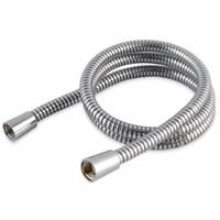 Chrome PVC Shower Hose 1.25m 7mm Bore, Will replace all leading brands