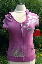 Women's Ecko Red Knock You Out Hoody Short Sleeve Plum Purple Size S $58.00 NWT