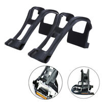 A Pair New Cycling Bicycle Bike Strapless Toe Pedal Clips Half Clips Black