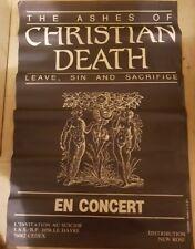 CHRISTIAN DEATH Rare Live 80's poster Original 116X78cm Rozz Williams I.A.S