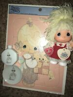 Vintage Precious Moments Lot Hi Babies Be Mine Doll Puzzle Collectables Glass