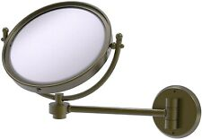 Allied Brass WM-5/3X 8in Wall Mounted 3X Magnify Make-Up Mirror - Antique Brass