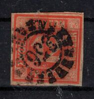 G128662 / GERMAN OLD STATES / BAVARIA / MI # 6 USED CV 200 $