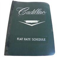 1959-60 CADILLAC ORIGINAL OEM DEALERS FLAT RATE SCHEDULE IN BINDER RARE