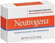 Neutrogena Transparent Facial Bar-Acne-Prone Skin Formula Soap 3.5oz Lot of 3