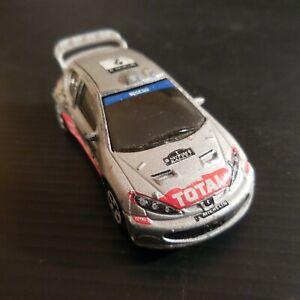 Voiture miniature Peugeot 206 WRC Majorette Total Michelin Clarion sport N4647