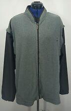 Footjoy Convertible Jacket Vest Full Zip Black/Gray Men's L Fleece Body Golf