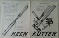 1920 E Simmons Hardware Keen Kutter hammer file vintage tool two page ad