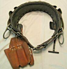 Buckingham Lineman 2D Ring Climbing Belt 2000m Black D29 With Tool Holster