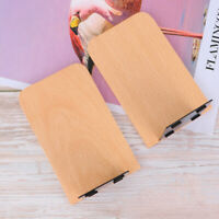 2X Wood Bookend Bookshelf Bookend Book Rack Stand Holder Desk for Office NEW