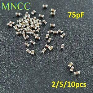 0603 (1608) 75pF 50V 5% MLCC Chip Capacitor SMD Multi Layer Ceramic C0G Loose