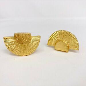 Gold Fan Art Deco Style Knob Metal  Drawer Pulls, Drawer Knobs