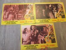 David Janssen Dr. Kimble Anillo de Fuego Lobby Cards Lote 1960s de Oriente Medio