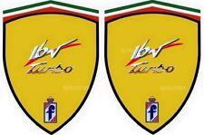 2 stickers adhésifs FIAT coupé 16 V TURBO    (idéal pour ailes avant)