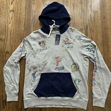 Polo Ralph Lauren Yale 2 Tiger Winged P Hoodie, Size Large NWT $148
