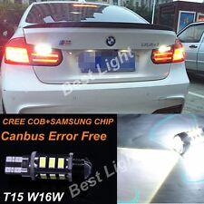 2x T15 White Error Free LED Reverse Back up Light Bulb For Bmw F10 M5 2011-2015
