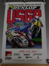 1989 USGP LAGUNA SECA POSTER MotoGP Grand Prix Eddie Lawson John Kocinski Honda