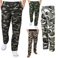 Mens Cargo Trousers Combat Military Army Camouflage Pants Casual Work Fashion