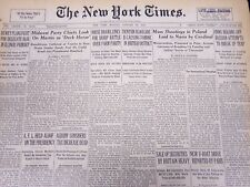 1940 JAN 29 NEW YORK TIMES NEWSPAPER - MASS SHOOTINGS IN POLAND - NAZIS - NT 36