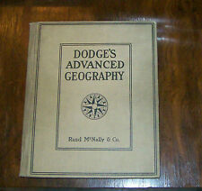 Dodge's Advanced Geography 1904 hardcover   fair to good condition