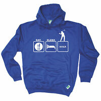 Eat Sleep Golf HOODIE golfer golfing humour hoody top funny birthday gift 123t