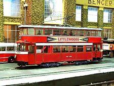 0 Gauge Leeds Corporation FELTHAM Tram O gauge Card Model Kit