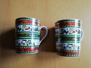 Weihnachtsgeschirr  2 Kaffeebecher Tassen Ahornmarke
