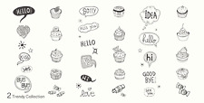 MoYou Nail Fashion Stamping Nail Art Image Plate 2 Trendy Collection Cupcakes