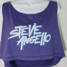 Steve Angello Swedish House Mafia EDM DJ Purple Crop Tank Top Shirt Las Vegas