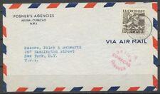 CURACAO, 70 CT. LP.14 OP LP.COUVERT ARUBA ORANJESTAD 9.8.41 - USA,CENSUUR! ZE545