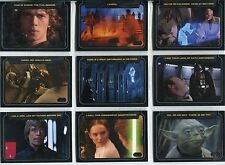 Star Wars Galactic Files Complete Classic Lines Chase Card Set CL1-10