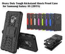 For Samsung Galaxy A5 (2018) / A8 Armor Shockproof Heavy Duty Tough Hybird Case
